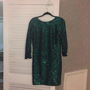 Sequin mini dress party dress low cut back